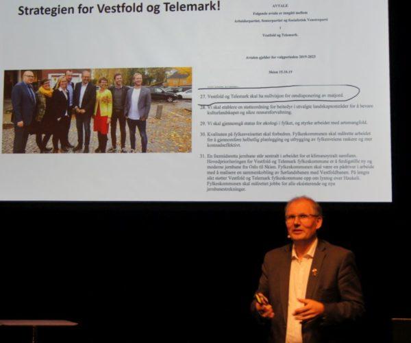 Påtroppende fylkesordfører for Vestfold og Telemark, Terje Riis Johansen