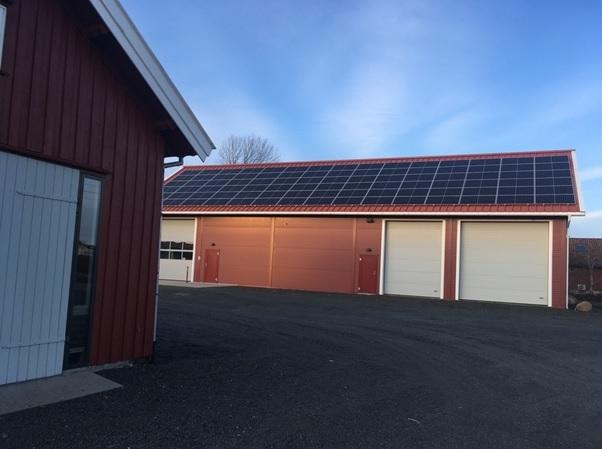 Solceller på gårdsbruk i Tjølling