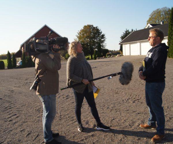 Thorleif er ofte å høre på NRL Vestfold. Her blir han intervjuet om klimakalulatoren