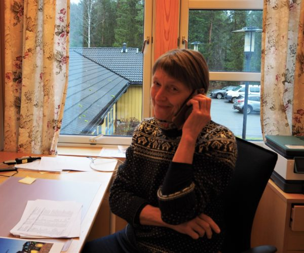 Alltid hyggelig å få nye medlemmer i Bondelaget, Hege Gonsholt prata med flere trivelige bønder i Telemark.