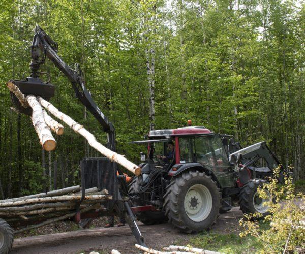 Naturbrukselever får kjøre traktor på Melsom