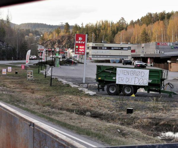 Drangedal og Tørdal Bondelag var kjappest ute, en time etter pressekonferansen fikk vi tilsendt bilder.